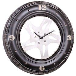 Horloge murale industrielle pneu