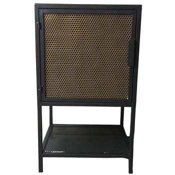 Petit meuble de rangement industriel noir or DANUBE