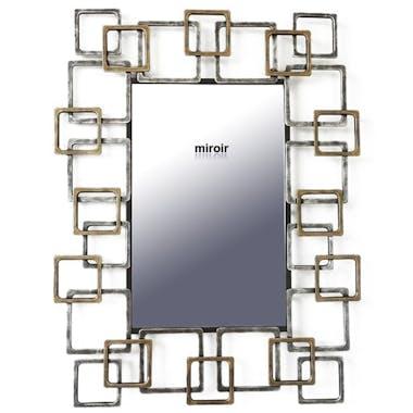 Miroir décoratif cadre rectangles enchevêtrés