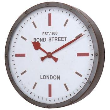 Horloge de cuisine gris rouge