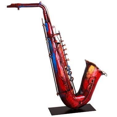 Objet déco salon saxophone métal peint