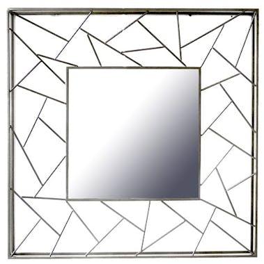 Miroir décoratif carré cadre triangles