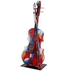 Objet déco salon violon métal peint