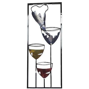 Décoration murale en métal verres à cocktail