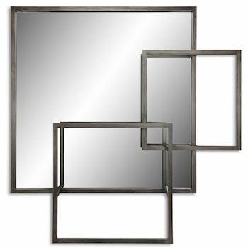 Miroir décoratif carré en volume