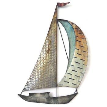 Décoration murale bateau 2 voiles