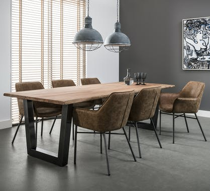 Grande table à manger bois massif 200 cm CAIRNS