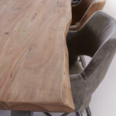 Grande table à manger bois massif 240 cm CAIRNS