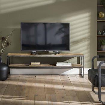 Meuble tv bois brut recyclé métal 150 cm OMSK