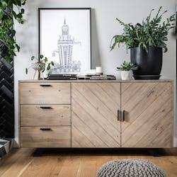 Buffet contemporain bois recyclé VITTORIA