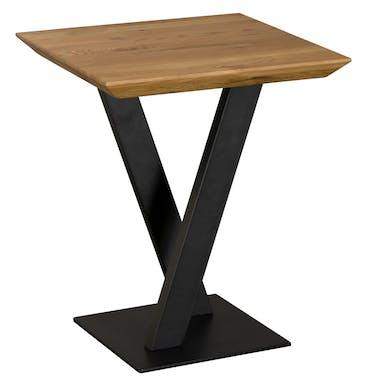 Bout de canapé moderne bois pied en croix VOLGA