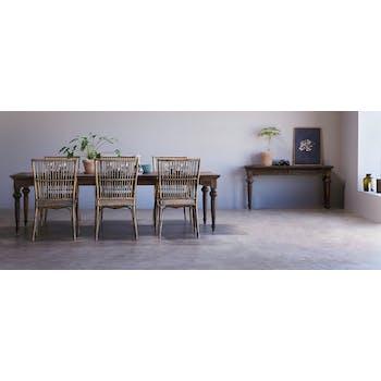 Table à manger bois de teck recyclé 260 cm CORK