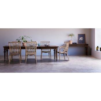 Table à manger bois de teck recyclé 280 cm CORK