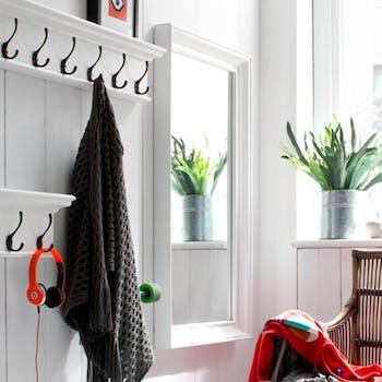 Miroir blanc en bois ROYAN
