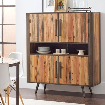 Buffet haut bois recyclé 4 portes SEATTLE