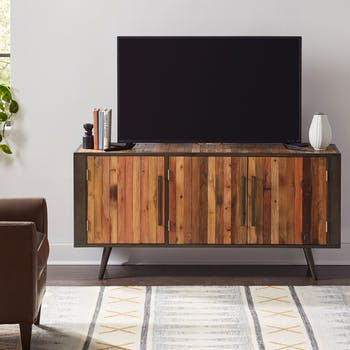 Meuble tv bois recyclé 3 portes SEATTLE