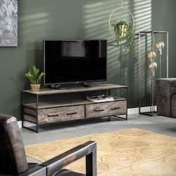 Meuble tv en bois grisé OBAN