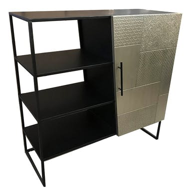Petit meuble de rangement noir et or NAMUR