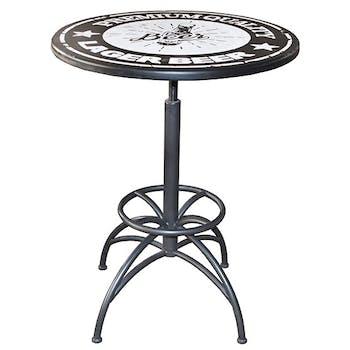 Table bistrot vintage noire