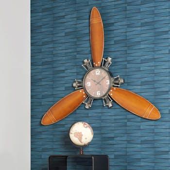 Horloge murale vintage hélice