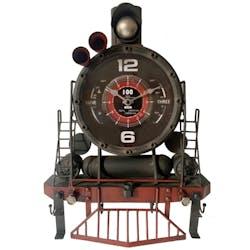 Horloge murale vintage locomotive