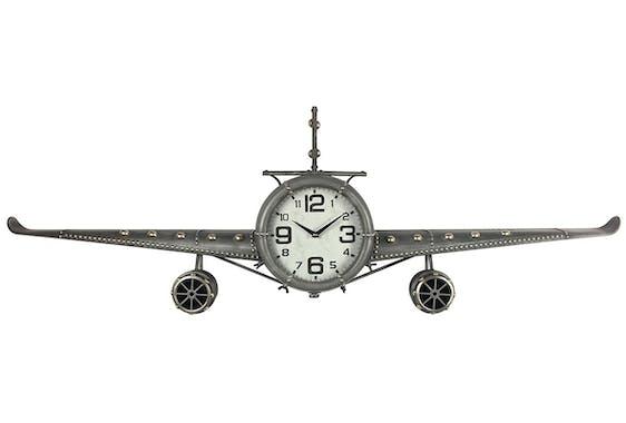 Horloge murale vintage avion