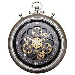 Horloge murale gousset engrenages
