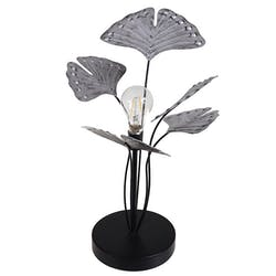 Lampe de chevet à pile ginkgo argent