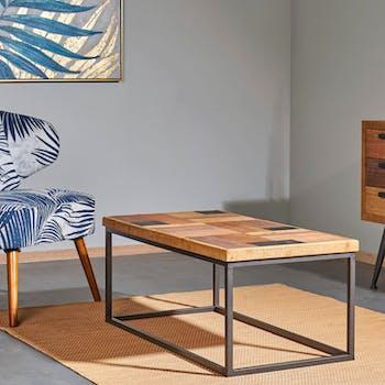 Table basse bois de sapin brut MALANG