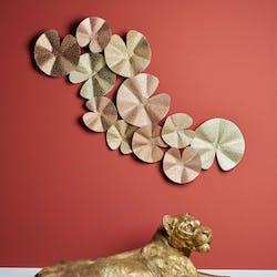 Déco murale corolle doré rose cuivre