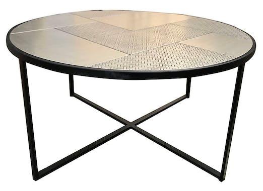 Table basse ronde noir et or NAMUR