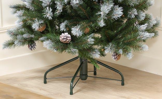 Sapin de Noël artificiel H 155 cm avec pommes de pin