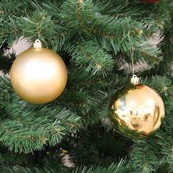 Boite de 4 boules de Noël dorées assorties