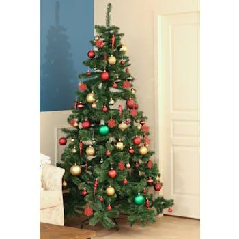 Sapin de Noël vert artificiel H215cm