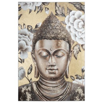 Tableau Bouddha multicolore
