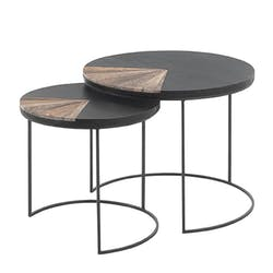 Table basse gigogne ronde DUMAI