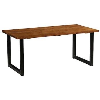 Table à manger bois recyclé de teck 220 cm PHOENIX