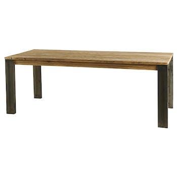 Table à manger rectangulaire bois de mindi 220 cm BORNEO