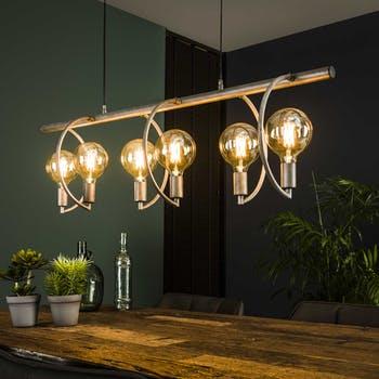 Suspension industrielle 6 lampes arcs TRIBECA