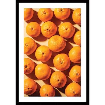 Affiche cuisine encadrée oranges