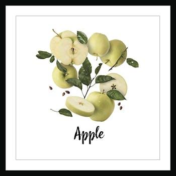Affiche cuisine encadrée pommes fraîches
