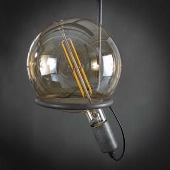 Ampoule globe led ambrée filament lumière chaude 20 cm E27