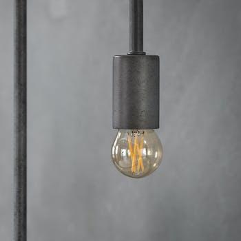 Ampoule globe led ambrée filament lumière chaude 4,5 cm E27