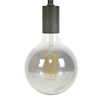 Ampoule globe led gris fumé filament 12,5 cm E27