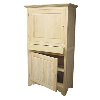 Armoire Hévéa 2 portes, 1 tiroir 105x50x185cm TRADITION