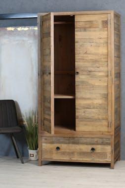 Armoire penderie en bois recyclé BRISBANE