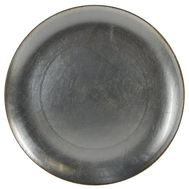 Assiette de présentation argentée D 33 cm