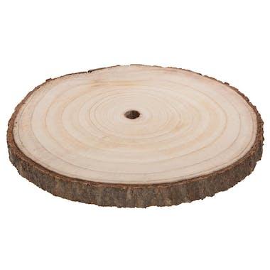 Assiette de présentation en rondin de bois