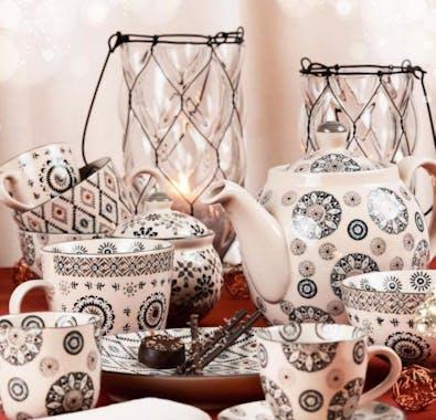 Assortiment de 4 bols en céramique avec motifs graphiques