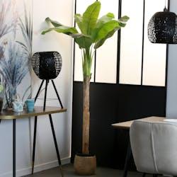 Bananier artificiel 8 feuilles en pot